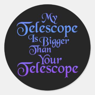 Mi pegatina del telescopio