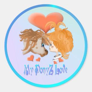 Mi pegatina indicado con letras del amor de PonyZ