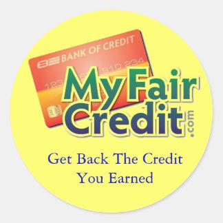 Mi pegatina justo del crédito