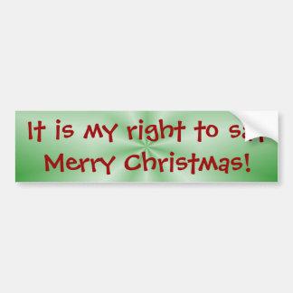 Mi pegatina para el parachoques adecuada del navid pegatina de parachoque