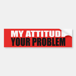 Mi pegatina para el parachoques de la actitud pegatina para auto