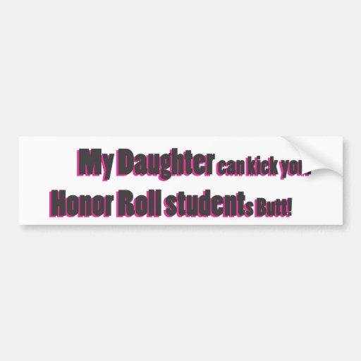 mi pegatina para el parachoques de la hija pegatina para auto