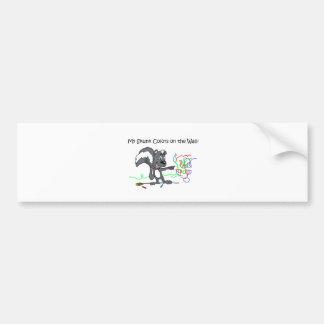Mi pegatina para el parachoques de Shunk Pegatina De Parachoque