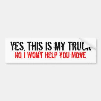 Mi pegatina para el parachoques del camión pegatina para auto