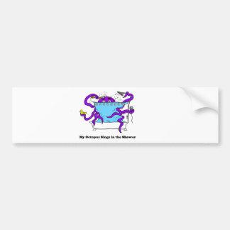 Mi pegatina para el parachoques del pulpo etiqueta de parachoque