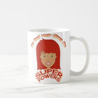 Mi pelo rojo me da SUPERPODERES Taza De Café