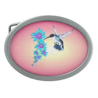 Mi pequeña hebilla del cinturón azul del colibrí hebilla de cinturon