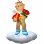 Mi pequeño ángel con los rosas escultura fotografica