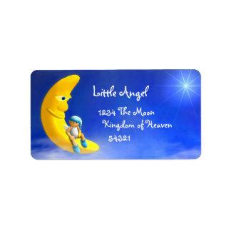 Mi pequeño ángel: Etiquetas de la luna Etiqueta De Dirección