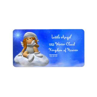 Mi pequeño ángel: Etiquetas del invierno Etiquetas De Dirección