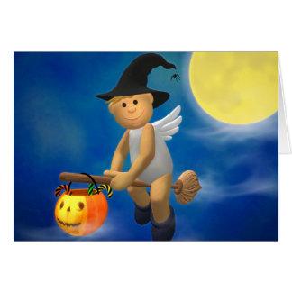 Mi pequeño ángel: Halloween Tarjeta De Felicitación