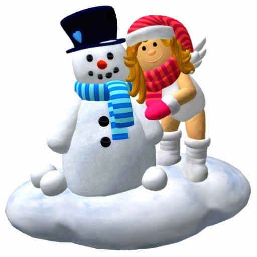 Mi pequeño ángel: Ornamento del muñeco de nieve Adorno Fotoescultura