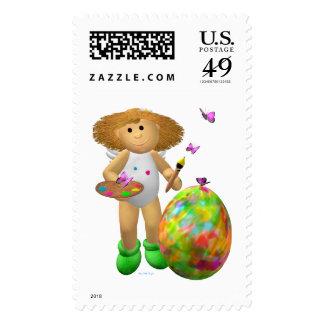 Mi pequeño ángel: Pascua feliz Sellos Postales