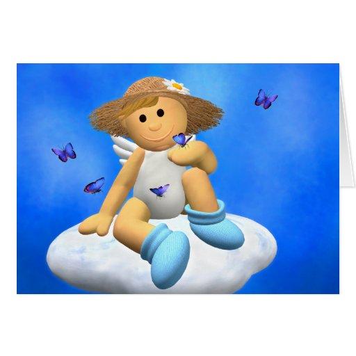 Mi pequeño ángel: Primavera Tarjeta De Felicitación