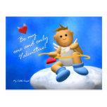 Mi pequeño ángel: Tarjeta del día de San Valentín Tarjeta Postal