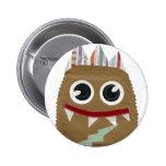 Mi pequeño botón del monstruo pin