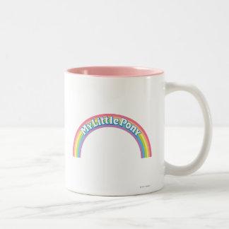 Mi pequeño logotipo del potro taza de dos tonos
