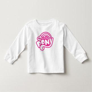 Mi pequeño logotipo del rosa del potro playera de bebé