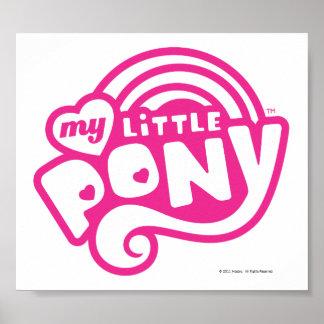 Mi pequeño logotipo del rosa del potro póster