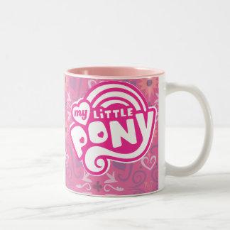 Mi pequeño logotipo del rosa del potro tazas de café