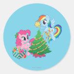 Mi pequeño navidad del potro pegatina redonda