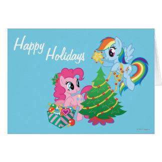 Mi pequeño navidad del potro tarjeta