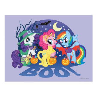 Mi pequeño potro, abucheo de Halloween Tarjetas Postales