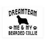 Mi perro barbudo del collie postal