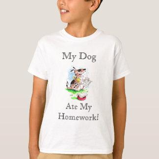 Mi perro, comió mi camiseta de la preparación playeras