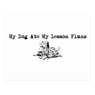 Mi perro comió mis planes de lección postal