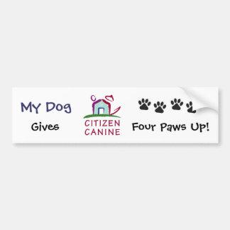 ¡[Mi perro] da las patas del cc 4 para arriba! Pegatina Para Auto