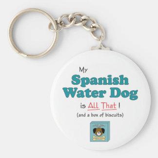 ¡Mi perro de agua español es todo el eso! Llavero
