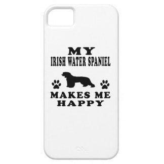 Mi perro de aguas de agua irlandesa me hace feliz iPhone 5 Case-Mate carcasa