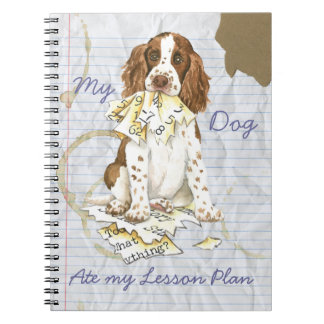 Mi perro de aguas de saltador inglés comió mi plan libros de apuntes con espiral