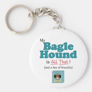 ¡Mi perro de Bagle es todo el eso! Llavero Redondo Tipo Pin