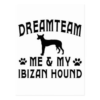 Mi perro de caza de Ibizan Postal