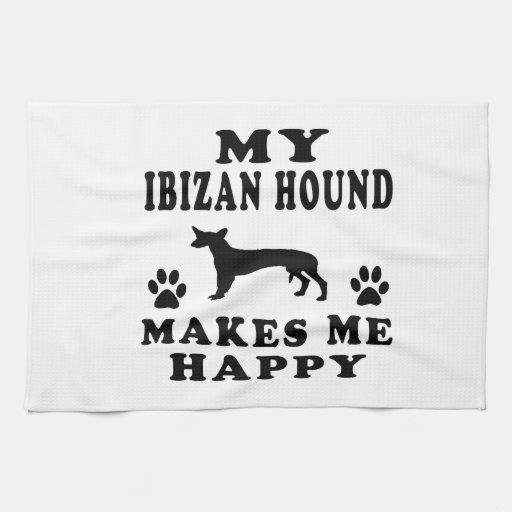 Mi perro de Ibizan me hace feliz Toallas De Cocina