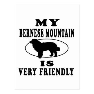 Mi perro de montaña de Bernese es muy amistoso Postal