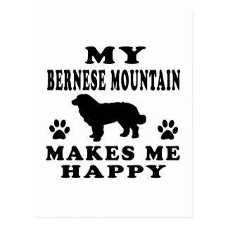 Mi perro de montaña de Bernese me hace feliz Postal