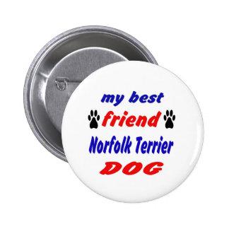 Mi perro de Norfolk Terrier del mejor amigo Chapa Redonda 5 Cm
