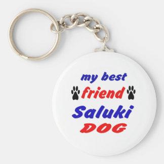 Mi perro de Saluki del mejor amigo Llavero Redondo Tipo Chapa