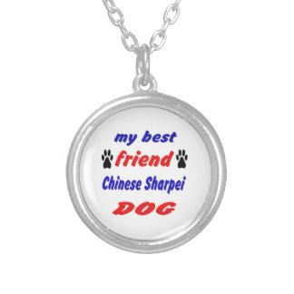 Mi perro de Sharpei del chino del mejor amigo Colgante Redondo