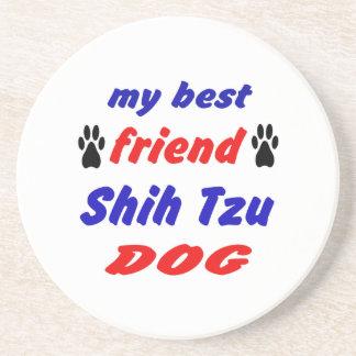 Mi perro de Shih Tzu del mejor amigo Posavasos Cerveza