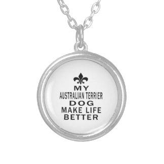 Mi perro de Terrier australiano hace vida mejor Colgante
