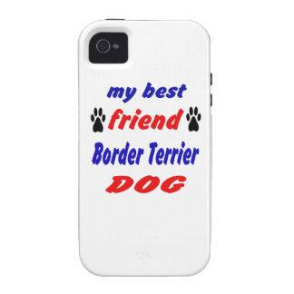 Mi perro de Terrier de frontera del mejor amigo Vibe iPhone 4 Fundas