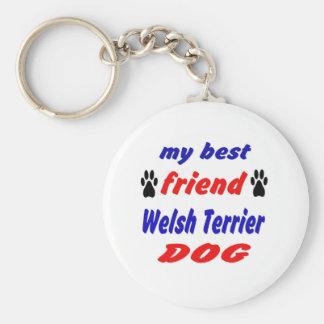 Mi perro de Terrier galés del mejor amigo Llavero Redondo Tipo Chapa