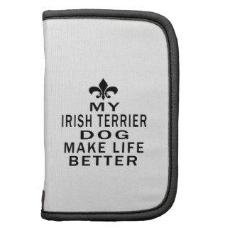 Mi perro de Terrier irlandés hace vida mejor Planificadores