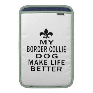 Mi perro del border collie hace vida mejor fundas para macbook air
