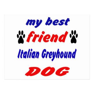 Mi perro del galgo italiano del mejor amigo tarjeta postal