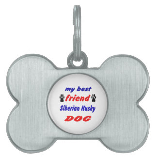 Mi perro del husky siberiano del mejor amigo placa de mascota